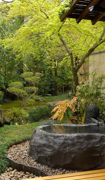 Private garden rotenburo bath, Gora Kadan, Hakone, Japan