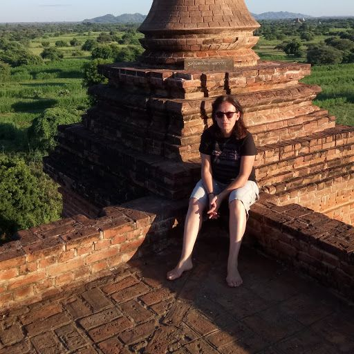 Rachel Mostyn in Bagan, Myanmar