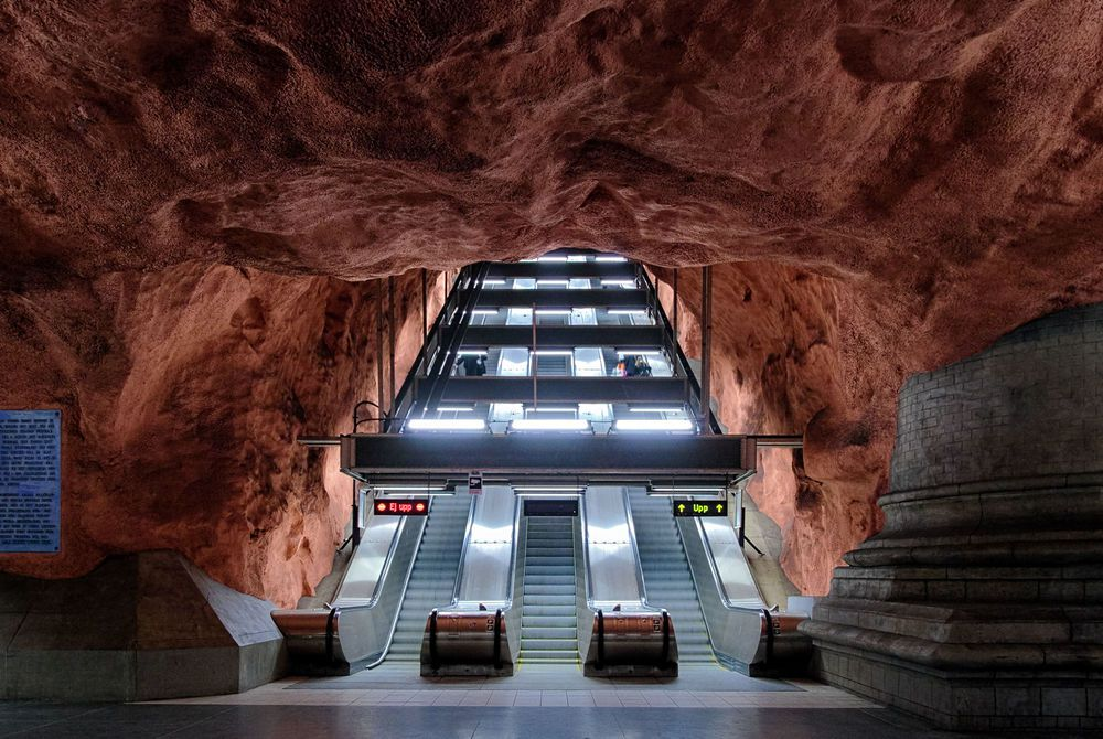 Radhuset Metro Station, Stockholm, Sweden