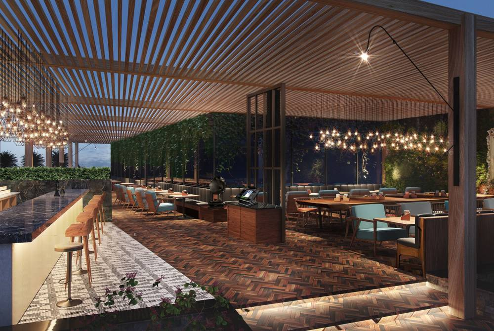 Outdoor terrace, Radisson Blu, Yas Island