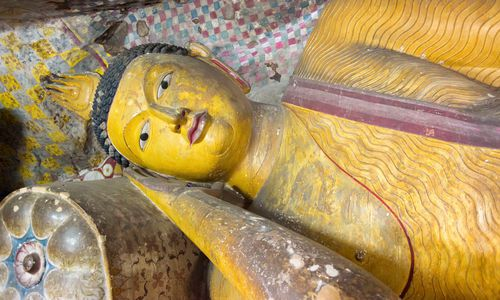 Reclining Buddha, Dambulla cave temple