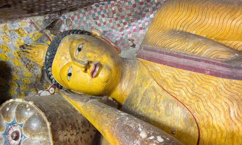 Reclining Buddha, Dambulla cave temple, Sri Lanka