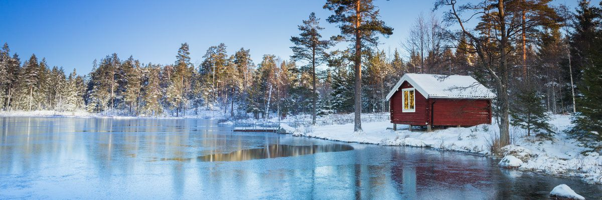 Red Log Cabin, Sweden