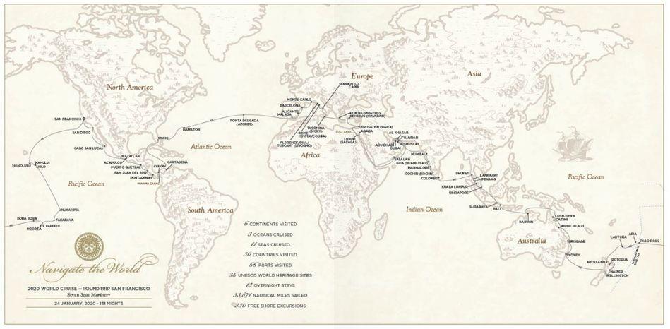 World Cruise 2020.Regent Seven Seas Cruises Unveils 2020 World Cruise The