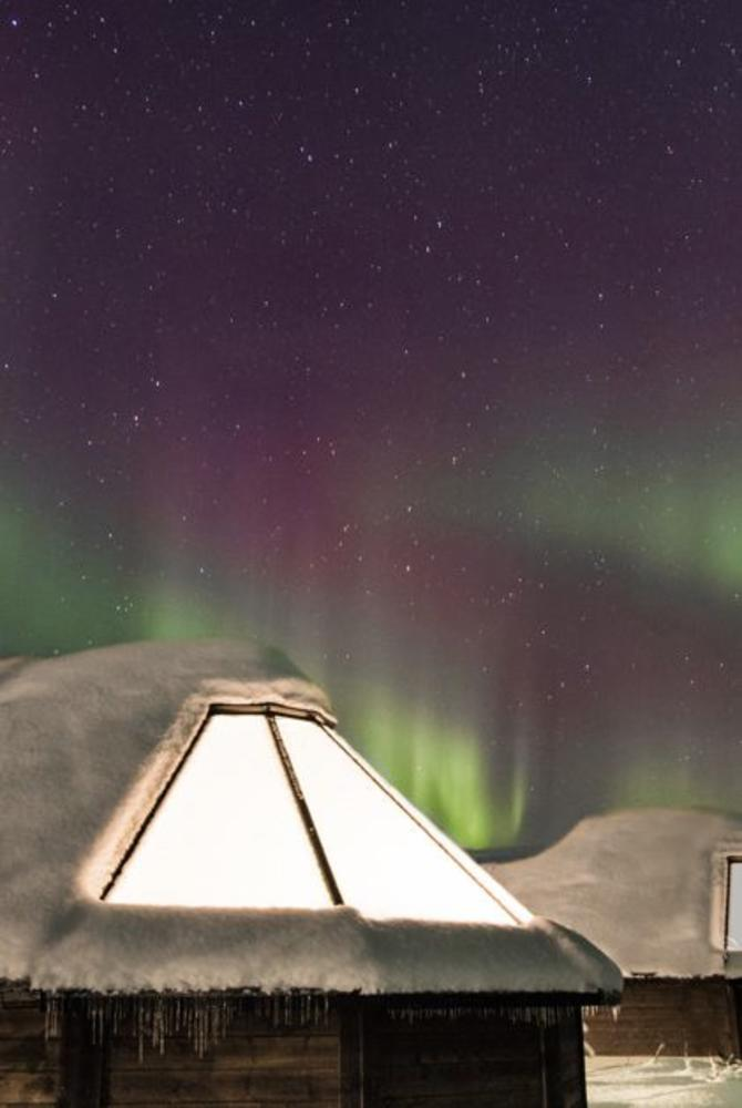 Northern Lights at the Reindeer Ranch