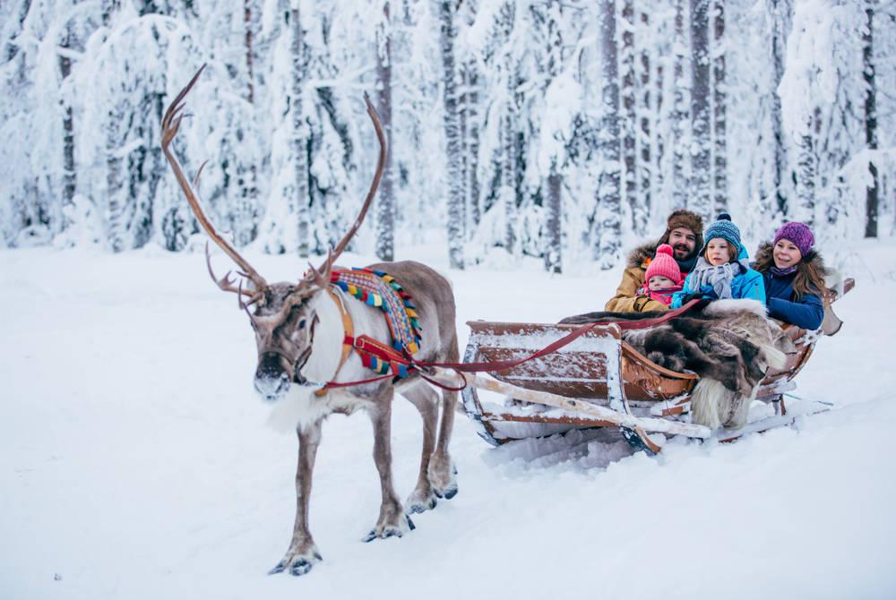 Reindeer sledding at Rovaniemi (Credit: Visit Rovaniemi)