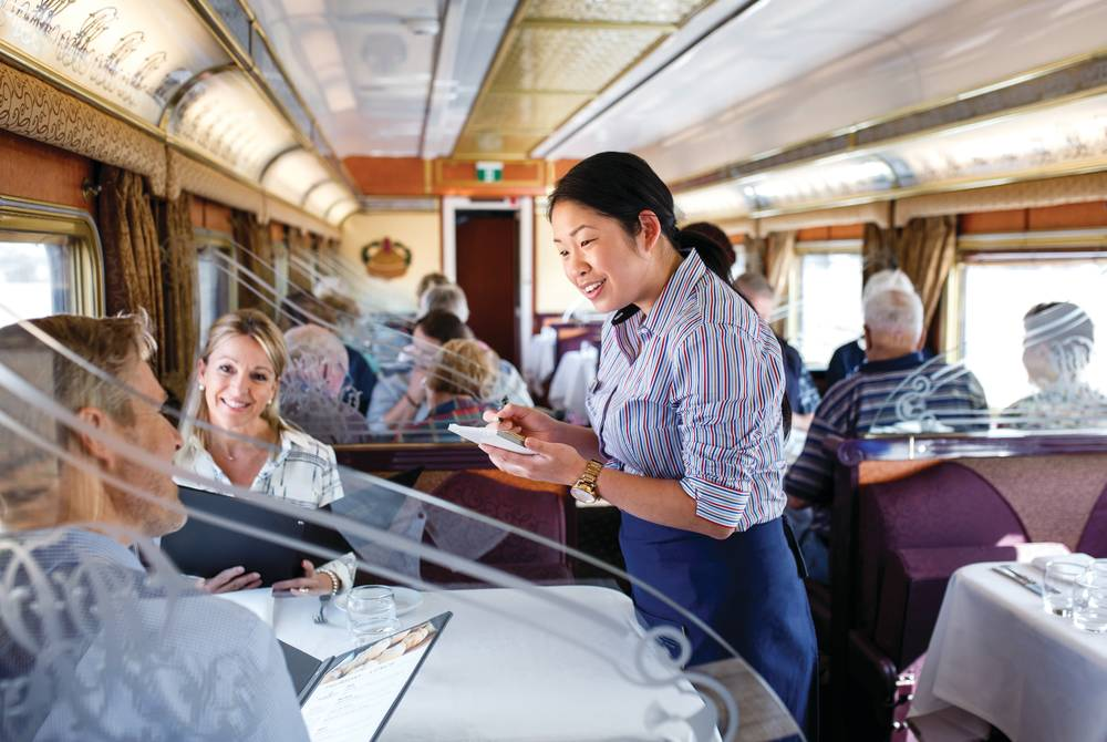 Restaurant car on board the Indian Pacific