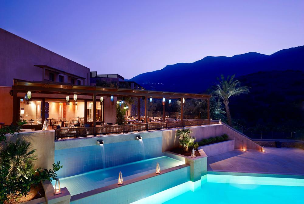 Restaurant and pool at Blue Palace Resort & Spa