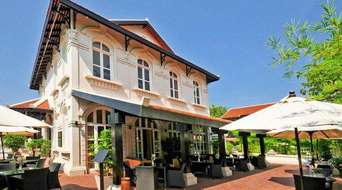 Restaurant terrace, Ansara Hotel, Vientiane
