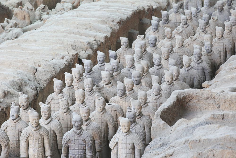 Restored Terracotta Warriors, Xian