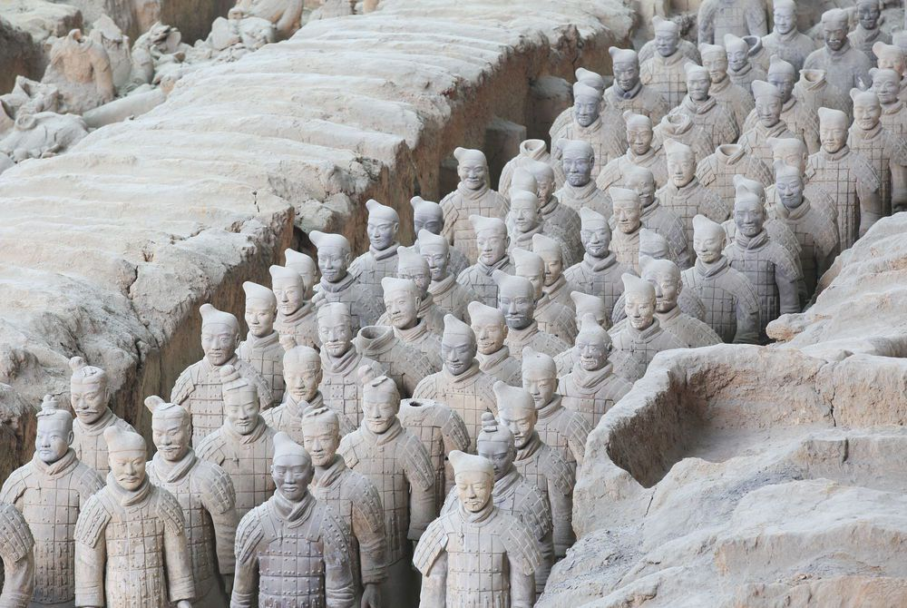 Restored Terracotta Warriors, Xian