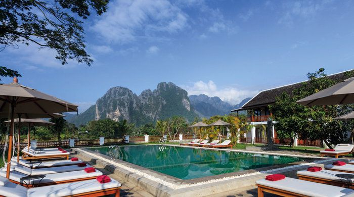 Swimming Pool, Riverside Boutique Resort, Vang Vieng