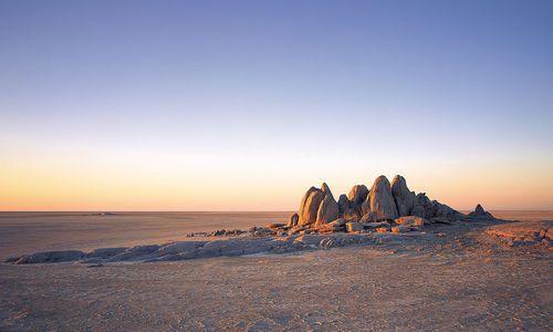 Rock crop, Jack's Camp, Makgadikgadi Pans, Kalahari Desert, Botswana