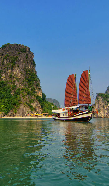 Princess Junk ship and Halong Bay in Vietnam