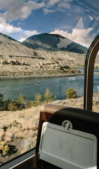 GoldLeaf train car, Rocky Mountaineer