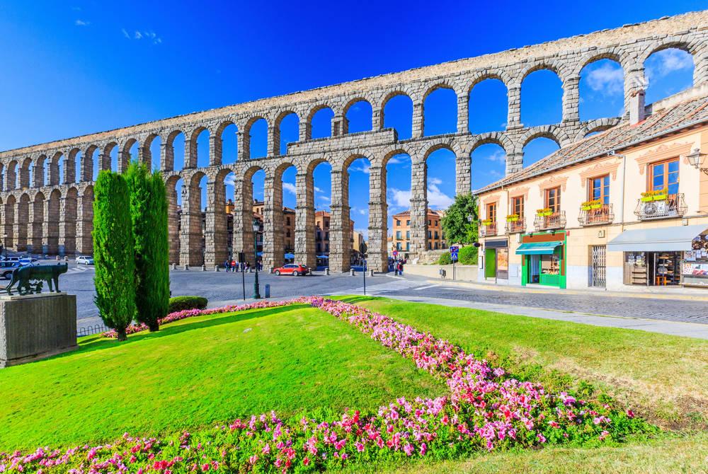 Roman Aqueduct, Plaza del Azoguejo, Segovia