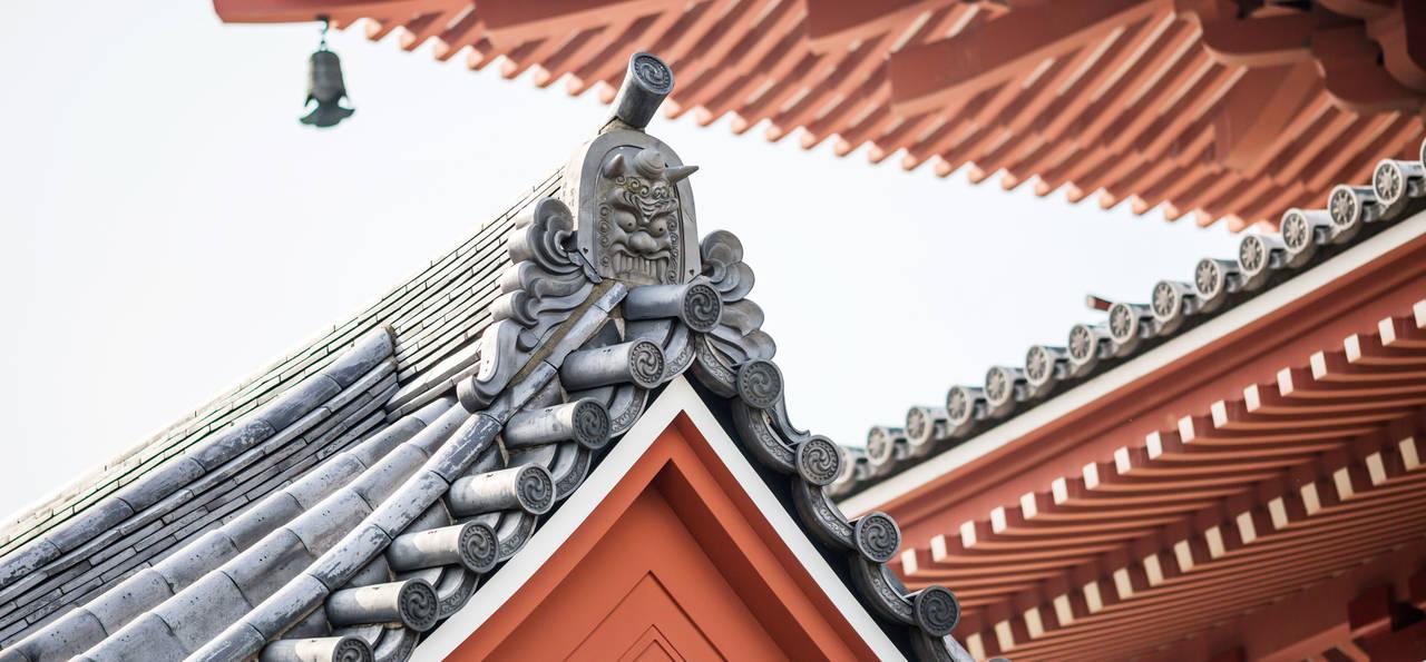 Roof of Sensoji temple, Asakusa, Tokyo