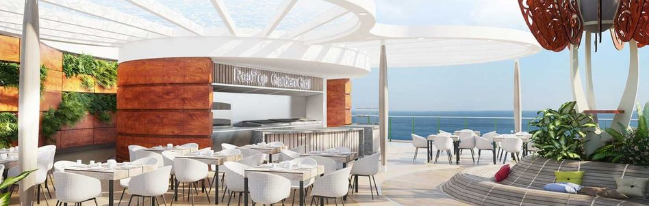 Rooftop Garden Grill on Celebrity Edge