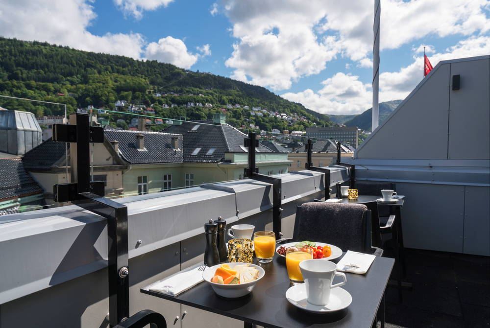 Rooftop terrace, Thon Hotel Orion