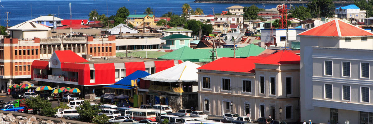 Roseau on the island of Dominica