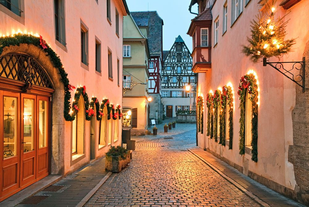Rothenburg ob der Tauber at Christmas Time