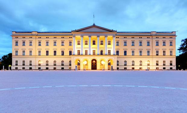 Royal Palace, Oslo by evening light