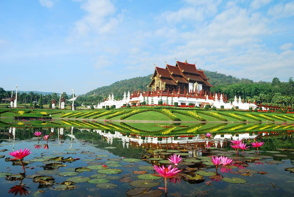 Royal Pavilion (Ho Kum Luang) at Royal Flora Expo in Chiang Mai, Thailand