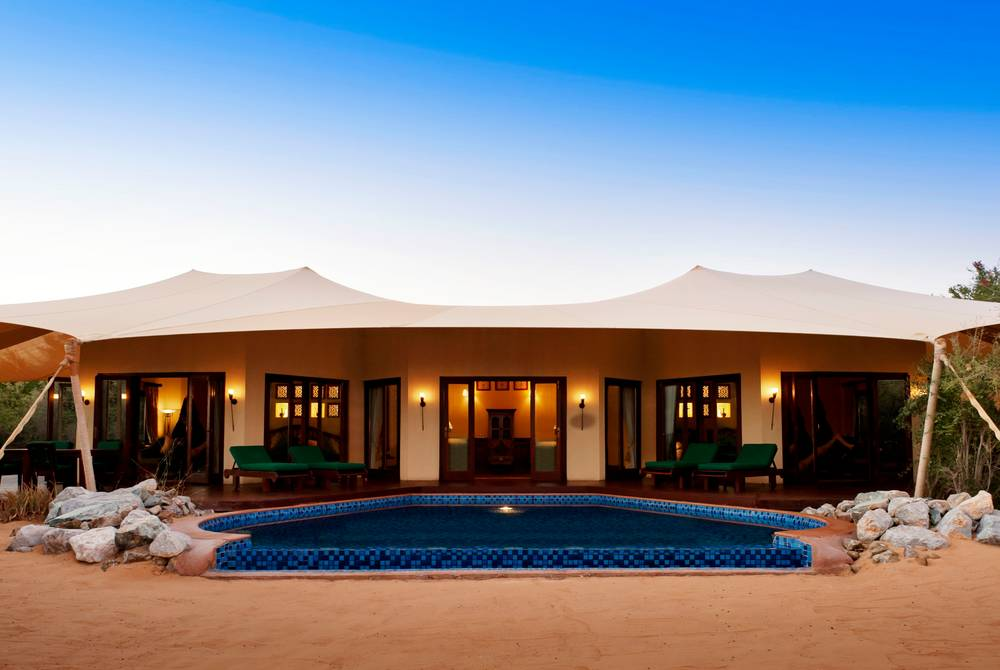 Royal Suite exterior, The Al Maha Desert Resort, Dubai