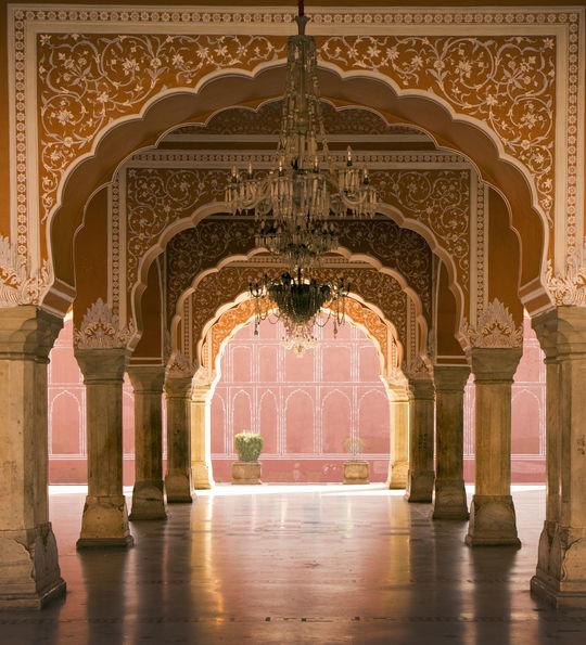 Royal interior, Jaipur palace, Jaipur India