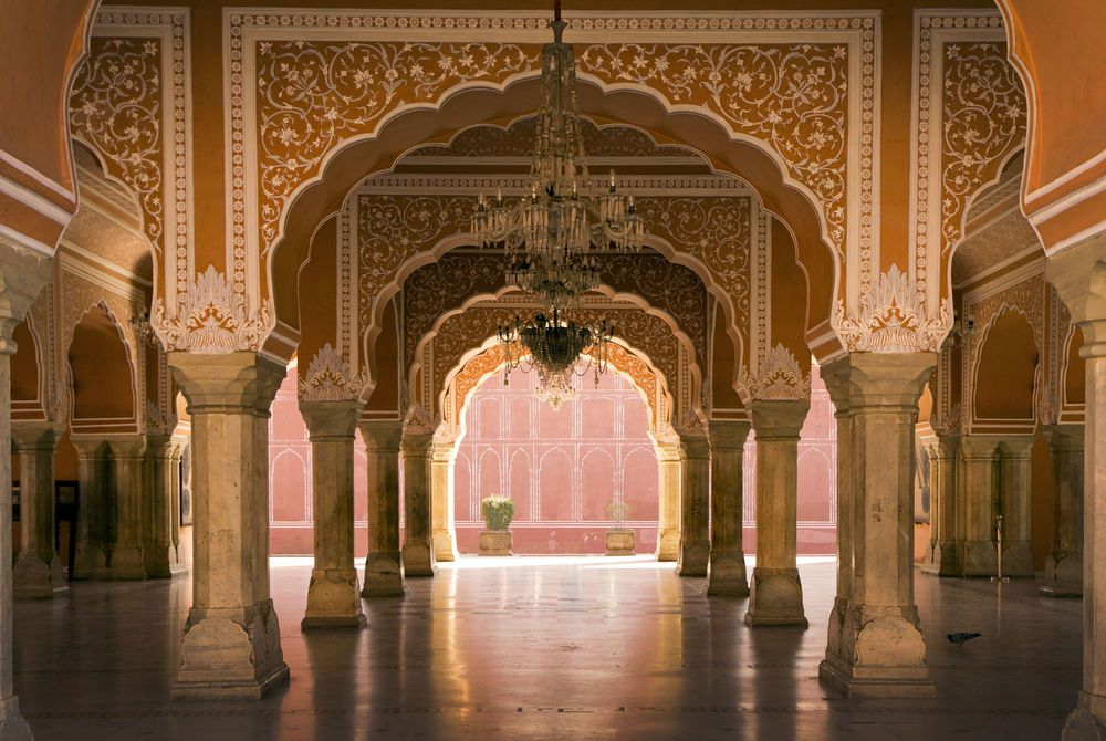 Royal interior, Jaipur palace, Jaipur India