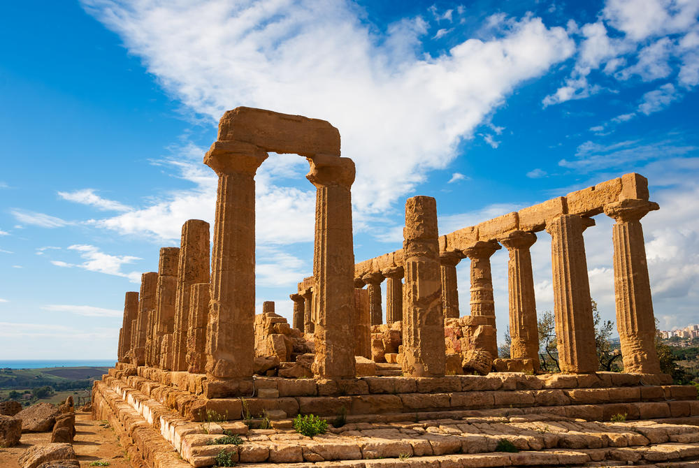 Templet at Agrigento, Sicily