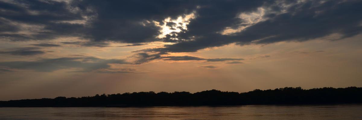 Ruse, Bulgaria, River sunset