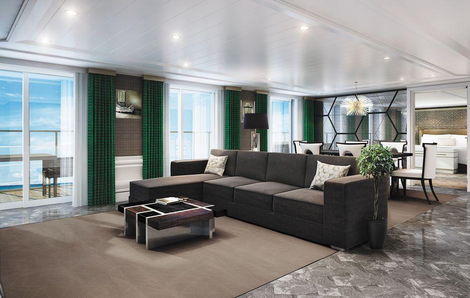 The Grand Suite on Regent Cruises Seven Seas Splendor