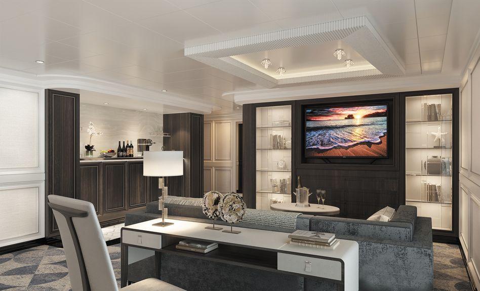 The Master Suite on Regent Cruises Seven Seas Splendor