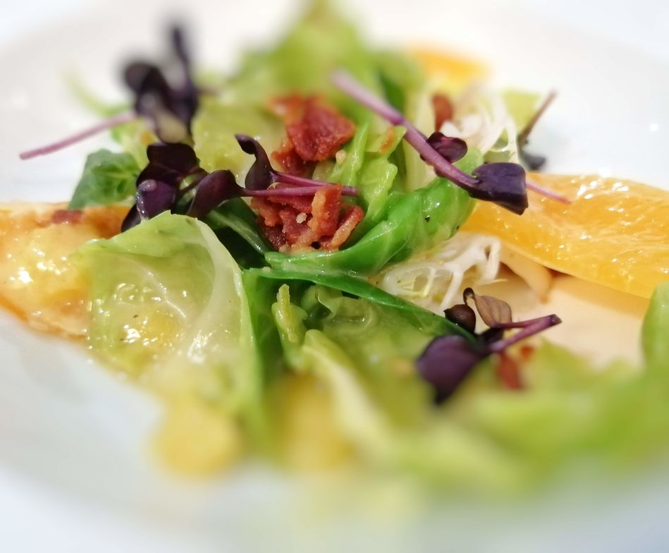Sprout salad, SS Beatrice, Uniworld Boutique River Cruises