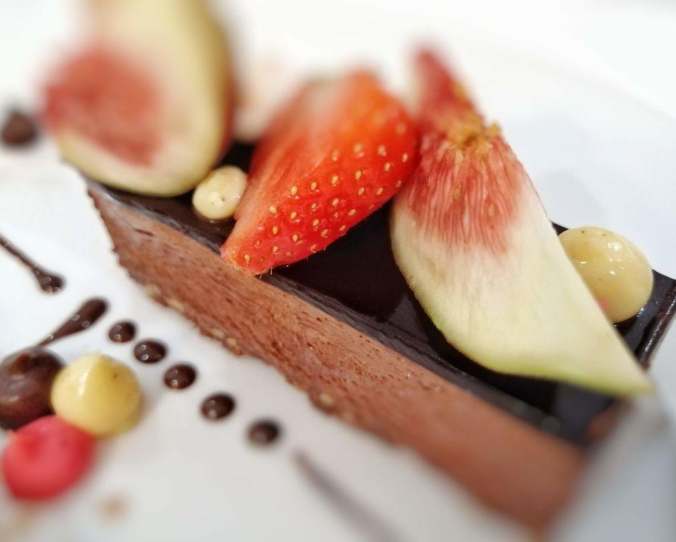 Feuillantine chocolate gateau, SS Beatrice, Uniworld Boutique River Cruises
