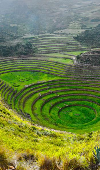 Incan agricultural tiers in the Sacred Valley