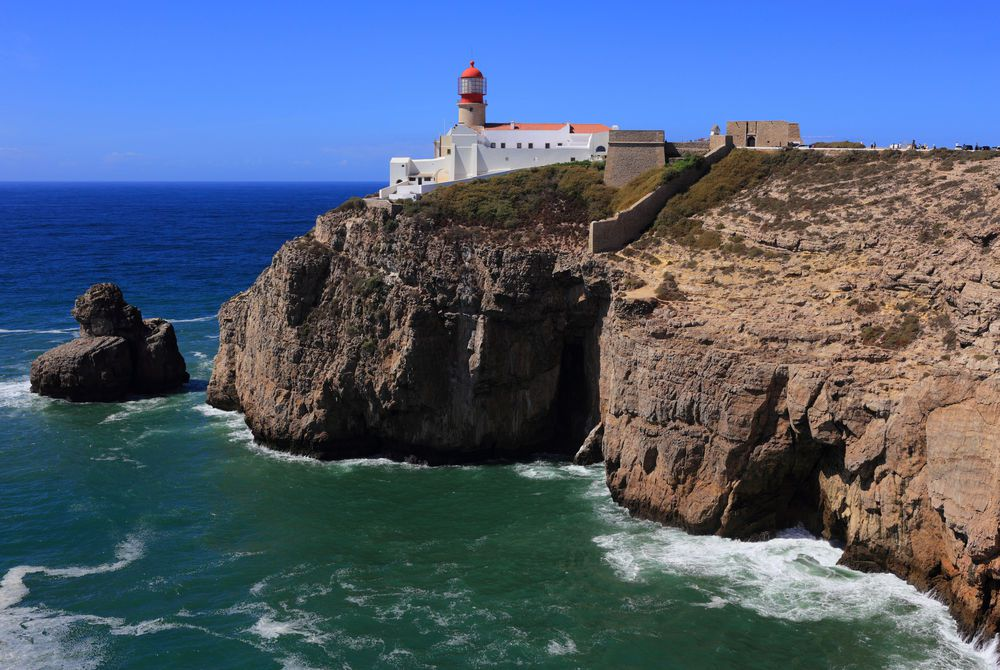 Sagres Lighthouse at Cape Saint Vincent Portugal