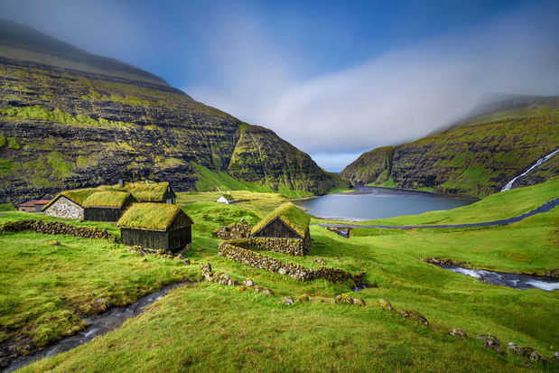 Saksun village on Streymoy, Faroe Islands