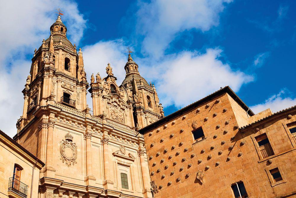 Salamanca's Clerecia Church and Casa Conchas shell house