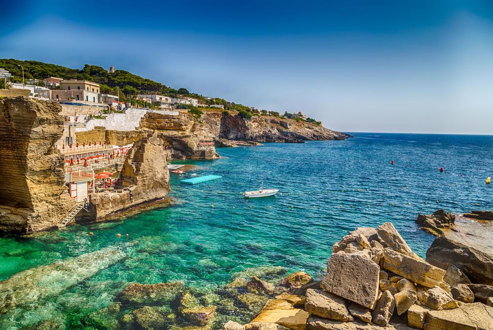 Salento's coast in Santa Cesarea Terme, Lecce