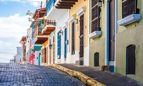 San Juan, Puerto Rico coast at Paseo de la Princesa