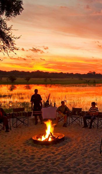 Sunset, Sanctuary Chief's Camp, Okavango Delta, Moremi Wildlife Reserve
