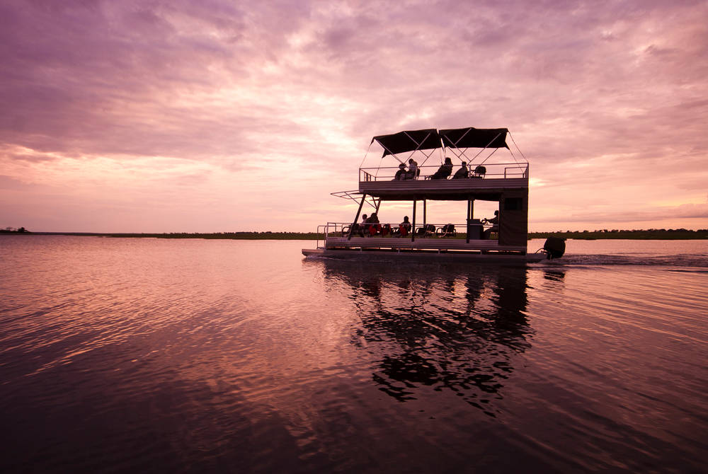 Evening sunset cruise, Sanctuary Chobe Chilwero, Chobe National Park, Botswana