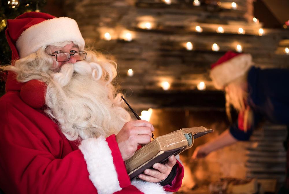 Santa in his workshop in Harriniva