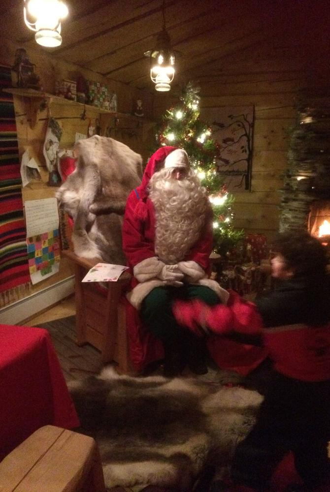 Santa at Harriniva