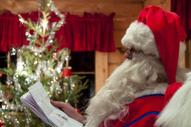 Meet Santa at Harriniva on a Christmas family holiday in Finnish Lapland