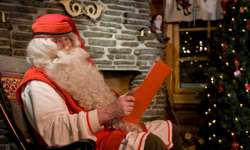 Meet Santa with snowmobiling & reindeer sled