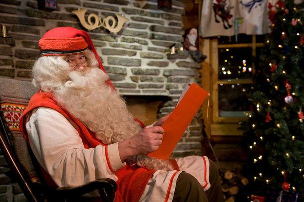 Santa in his post office at Rovaniemi