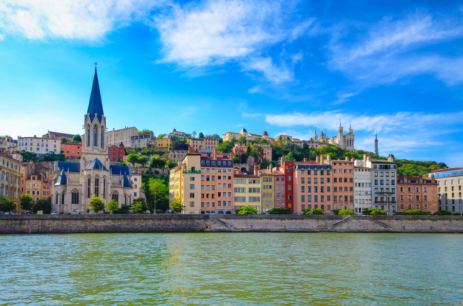 View of Lyon from its River